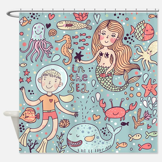 In the Sea Shower Curtain