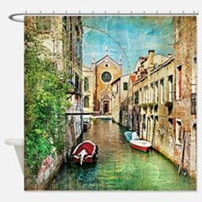 Vintage Grunge Venice Photo Shower Curtain