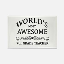 World's Most Awesome 7th. Grade Teacher Rectangle