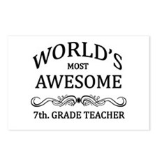 World's Most Awesome 7th. Grade Teacher Postcards