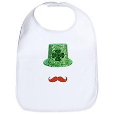 St Patrick's Day Sparkle Hat & Ginger Mustache Bib