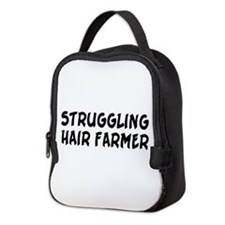 Struggling Hair Farmer Neoprene Lunch Bag