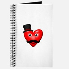 Mustache Love With Tophat Journal