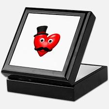 Mustache Love With Tophat Keepsake Box