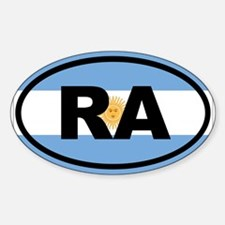 Argentina RA Sticker (Oval)