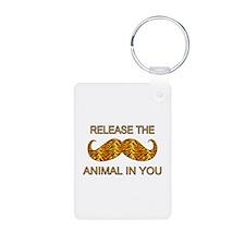 Animal In You Tiger Stripe Mustache Aluminum Photo