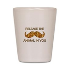 Animal In You Tiger Stripe Mustache Shot Glass