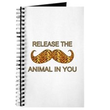 Animal In You Tiger Stripe Mustache Journal