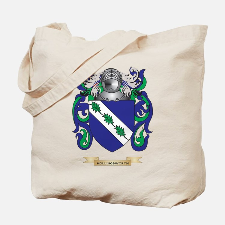 Hollingsworth Coat of Arms (Family Crest) Tote Bag