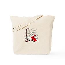 Vintage Piggies & Bird In Bath Tote Bag