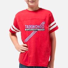 Taekwondo Mom Youth Football Shirt
