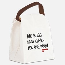 Knocked UP Too Many Chairs Canvas Lunch Bag