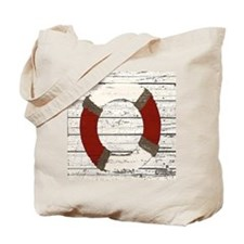 Red Life Ring Tote Bag