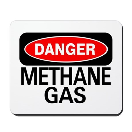 Danger Methane Gas Mousepad