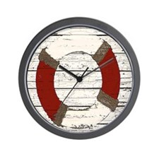 Red Life Ring Wall Clock