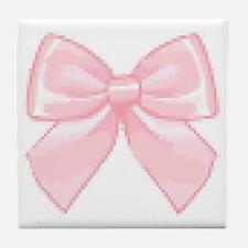 Girly Bow Tile Coaster