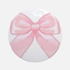 Girly Bow Round Ornament