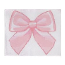 Girly Bow Throw Blanket
