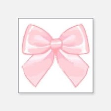 """Girly Bow Square Sticker 3"""" x 3"""""""