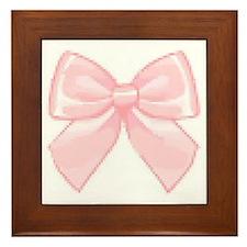 Girly Bow Framed Tile