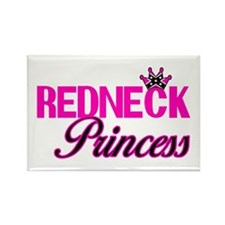 Hot Pink Rebel Redneck Princess Rectangle Magnet