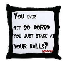 Knocked UP Balls Throw Pillow