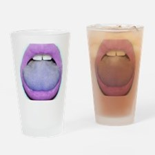 Lavender Kiss Drinking Glass
