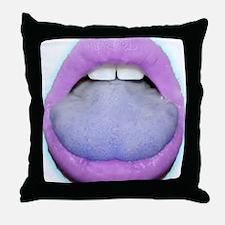 Lavender Kiss Throw Pillow