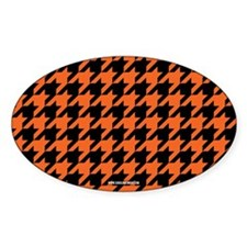 Houndstooth Orange Decal