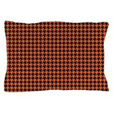 Houndstooth Orange Pillow Case