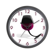 Bent Wineglass Wall Clock