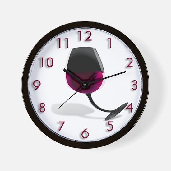 Bent Wineglass Wall Clock