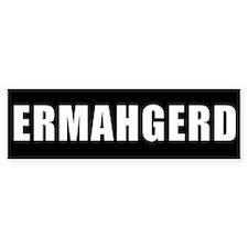 ERMAHGERD WHITE clear back Bumper Stickers