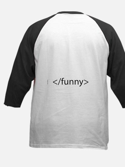 HTML Joke-Funny Kids Baseball Jersey