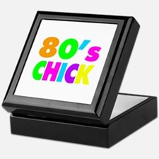 Neon Colors 80's Chick Keepsake Box