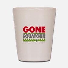 Bigfoot Hiding In Woods Gone Squatchin Shot Glass