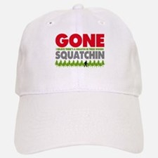 Bigfoot Hiding In Woods Gone Squatchin Baseball Baseball Cap