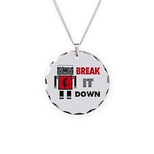 B Boy Boombox Robot Break It Down Necklace