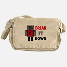 B Boy Boombox Robot Break It Down Messenger Bag
