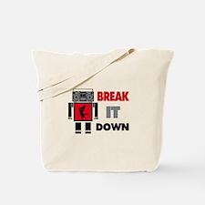 B Boy Boombox Robot Break It Down Tote Bag