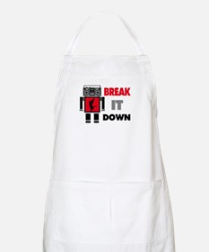B Boy Boombox Robot Break It Down Apron