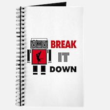 B Boy Boombox Robot Break It Down Journal