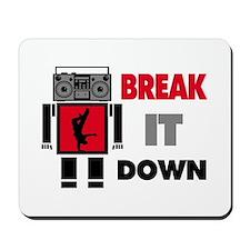 B Boy Boombox Robot Break It Down Mousepad