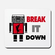 B Boy Boombox Robot Break It Down Mousepad