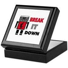 B Boy Boombox Robot Break It Down Keepsake Box