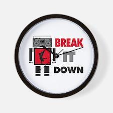 B Boy Boombox Robot Break It Down Wall Clock