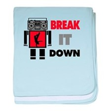 B Boy Boombox Robot Break It Down baby blanket