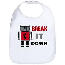 B Boy Boombox Robot Break It Down Bib