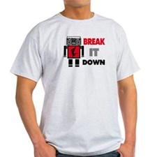 B Boy Boombox Robot Break It Down T-Shirt