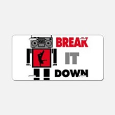 B Boy Boombox Robot Break It Down Aluminum License